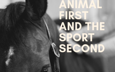 Love the animal first and the sport second